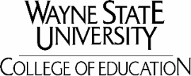 Wayne State University, College of Education
